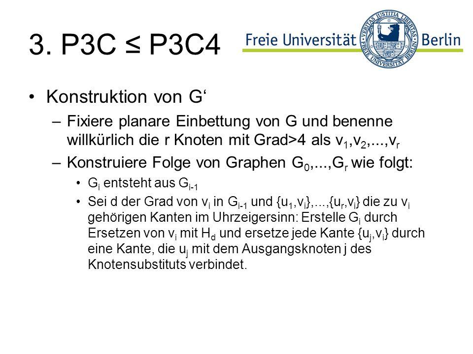 3. P3C ≤ P3C4 Konstruktion von G'