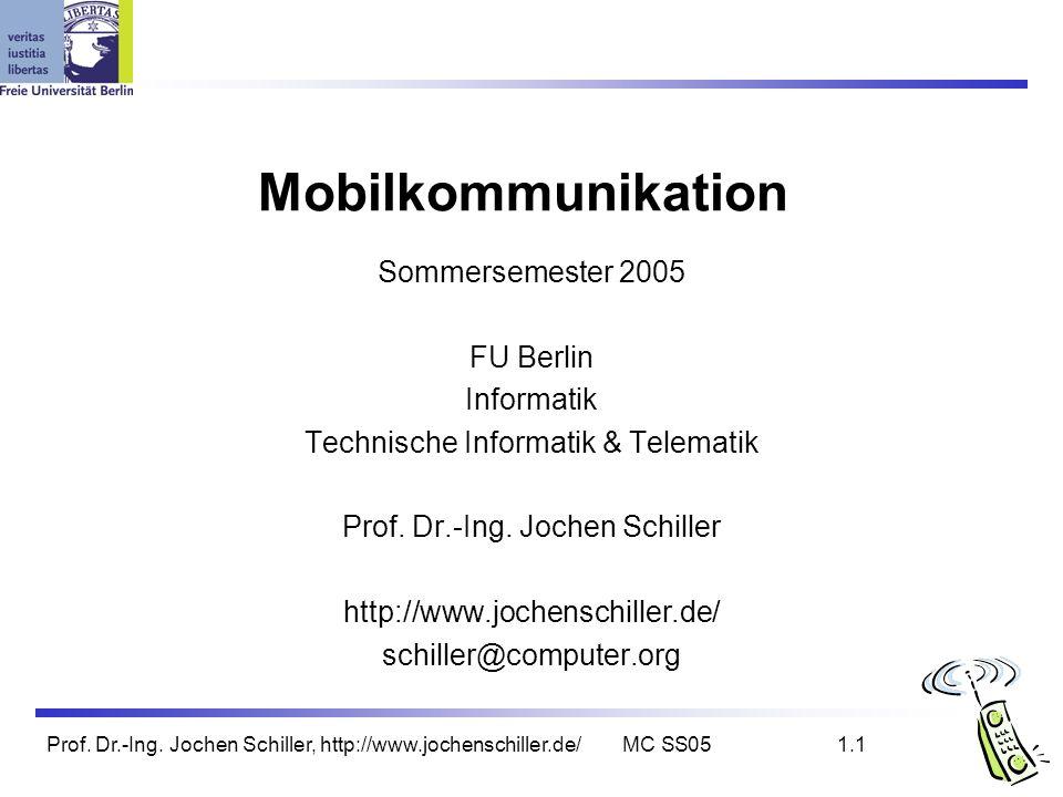 Mobilkommunikation Sommersemester 2005 FU Berlin Informatik