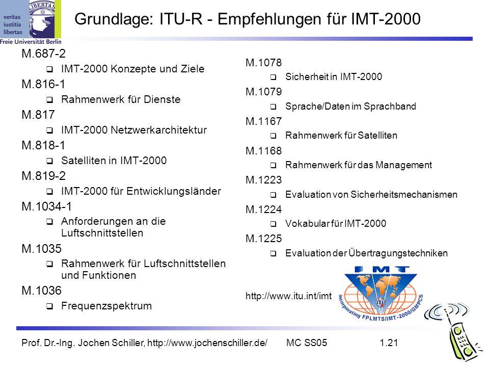 Grundlage: ITU-R - Empfehlungen für IMT-2000