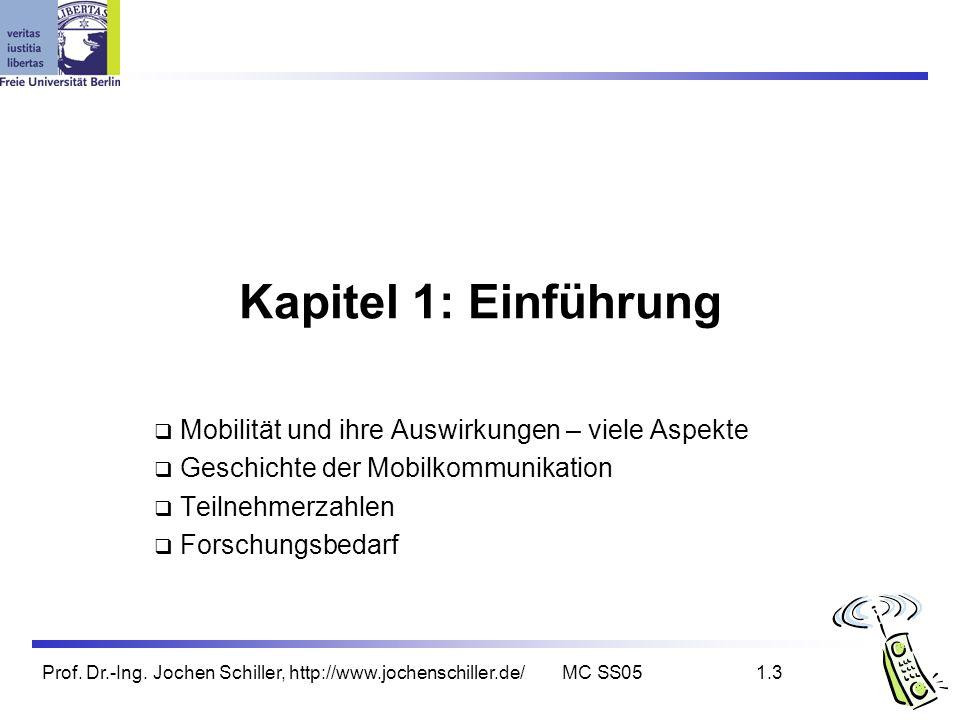 Kapitel 1: Einführung Mobilität und ihre Auswirkungen – viele Aspekte