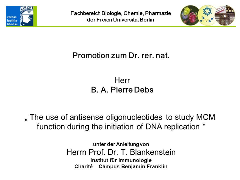 Institut für Immunologie Charité – Campus Benjamin Franklin