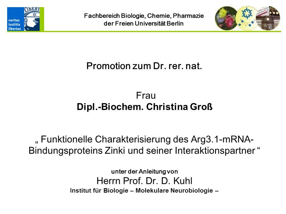 Institut für Biologie – Molekulare Neurobiologie –