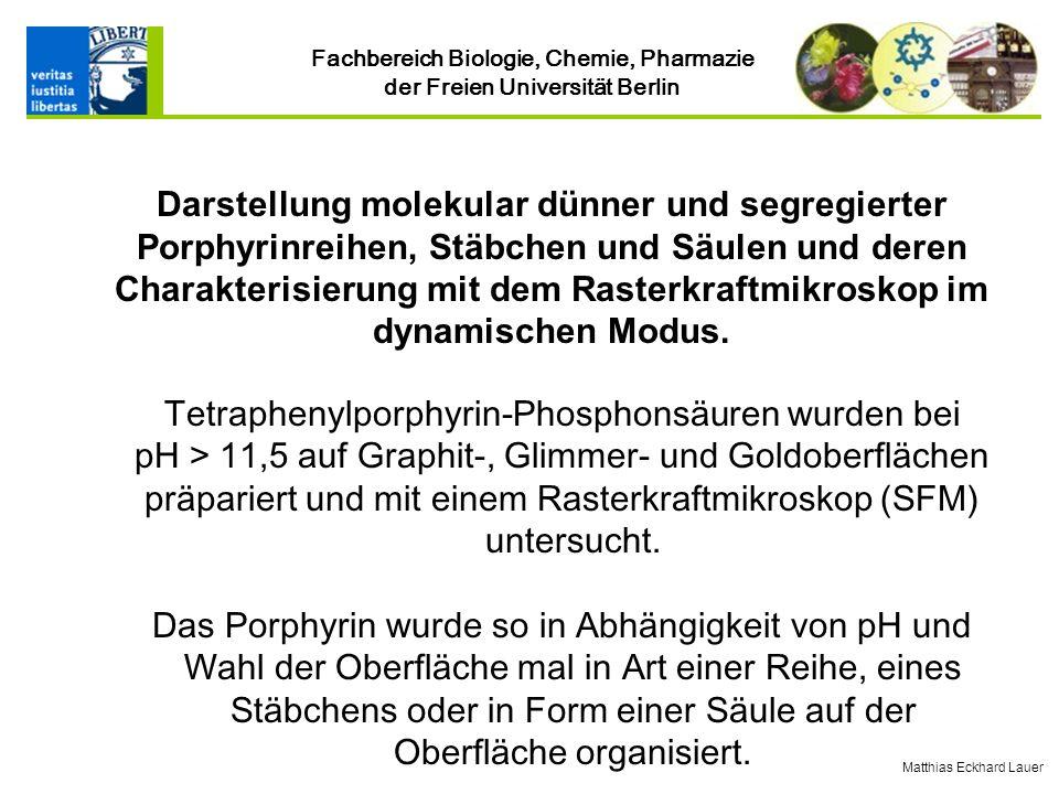 Tetraphenylporphyrin-Phosphonsäuren wurden bei