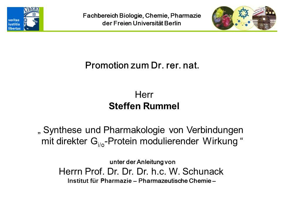 Institut für Pharmazie – Pharmazeutische Chemie –