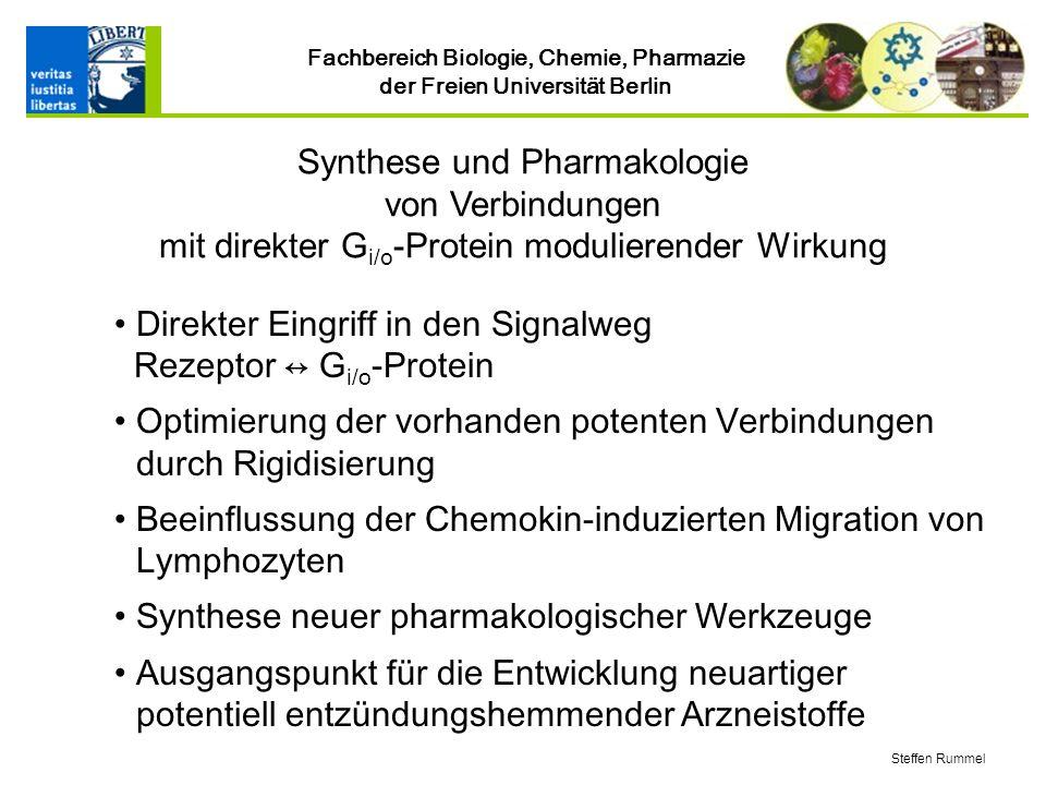 Direkter Eingriff in den Signalweg Rezeptor ↔ Gi/o-Protein