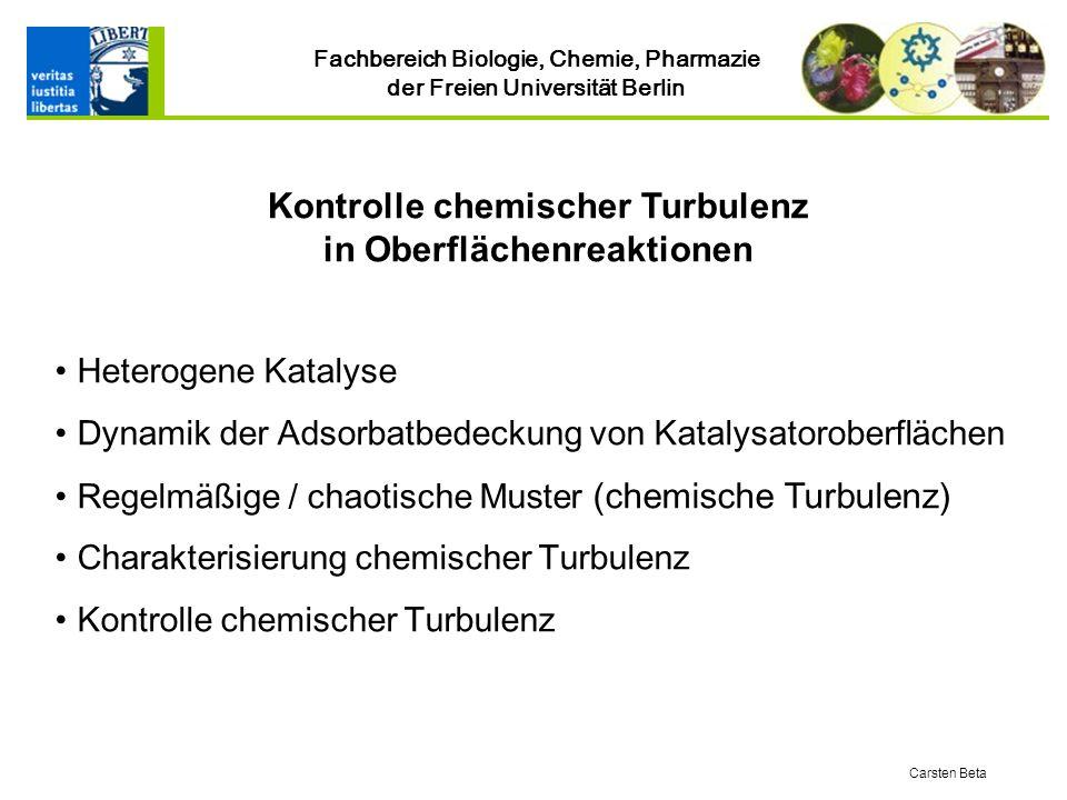 Kontrolle chemischer Turbulenz in Oberflächenreaktionen