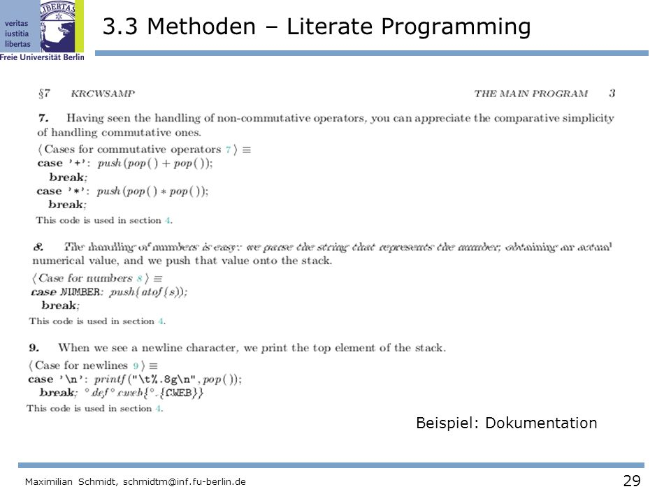 3.3 Methoden – Literate Programming
