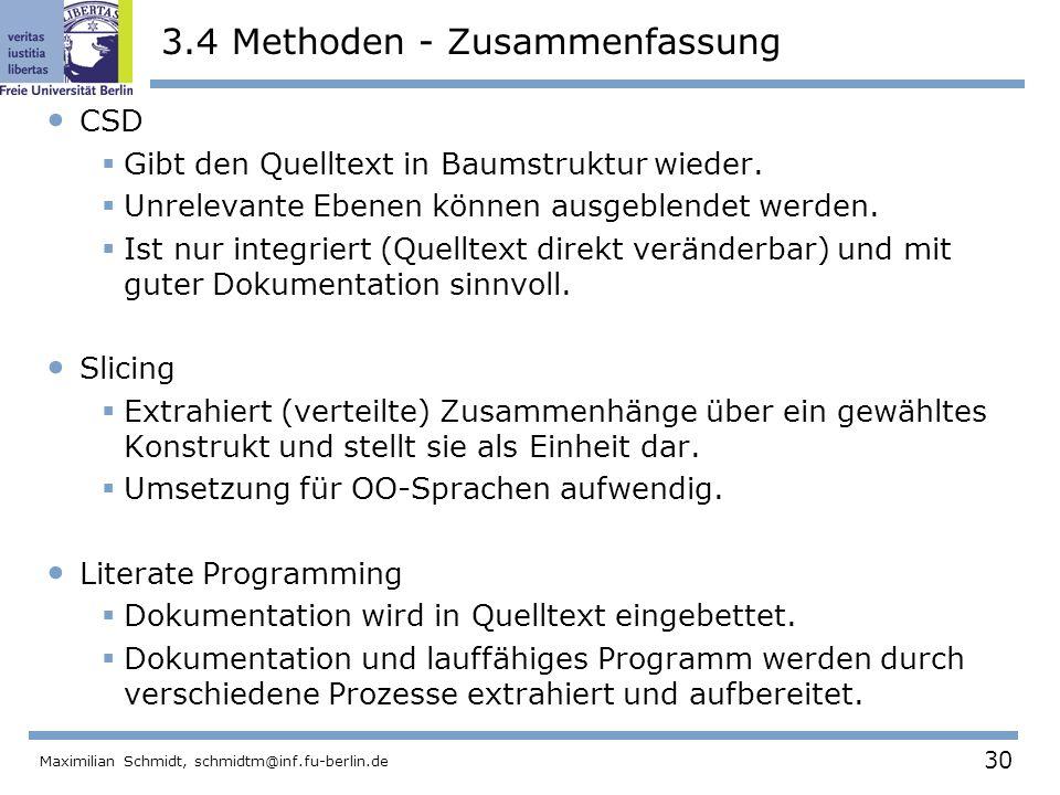 3.4 Methoden - Zusammenfassung