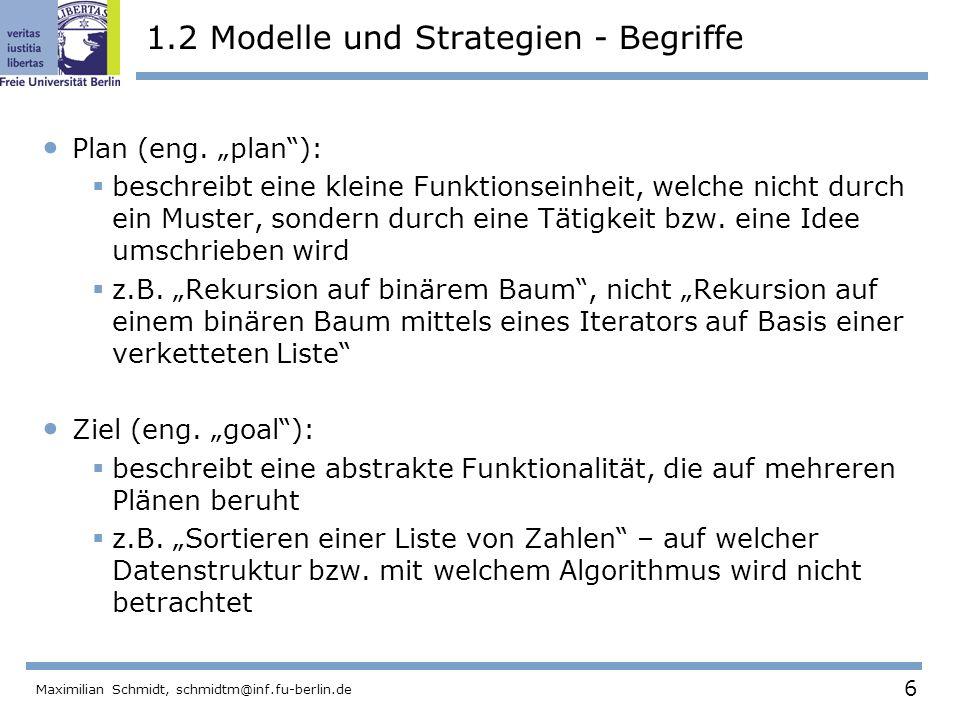 1.2 Modelle und Strategien - Begriffe