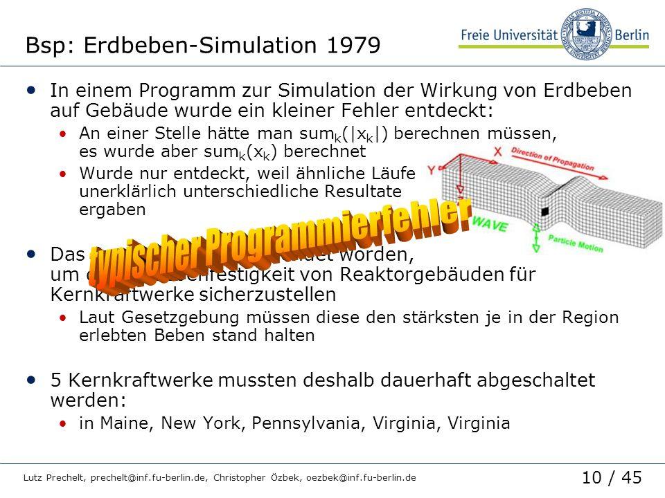 Bsp: Erdbeben-Simulation 1979