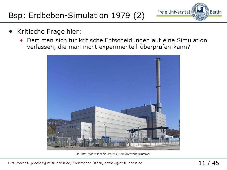Bsp: Erdbeben-Simulation 1979 (2)