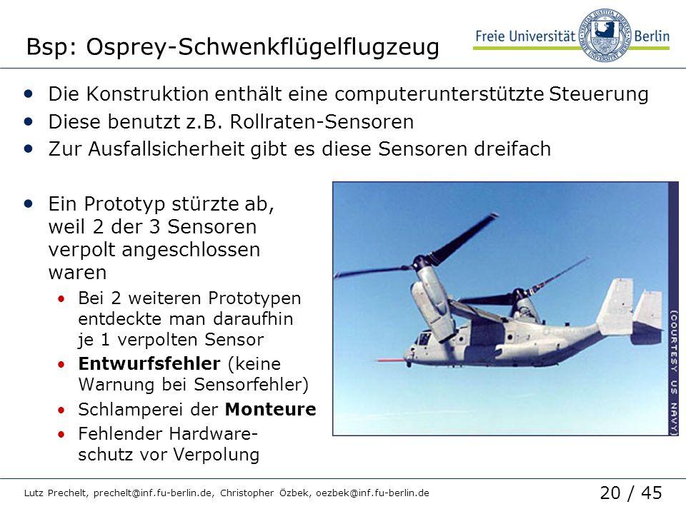 Bsp: Osprey-Schwenkflügelflugzeug