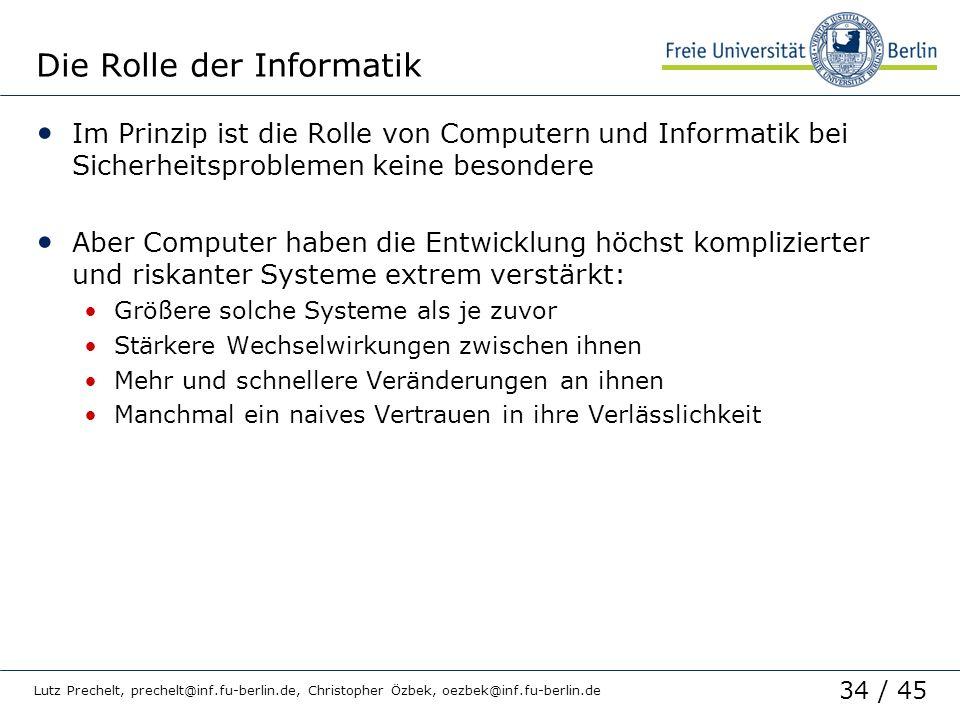 Die Rolle der Informatik