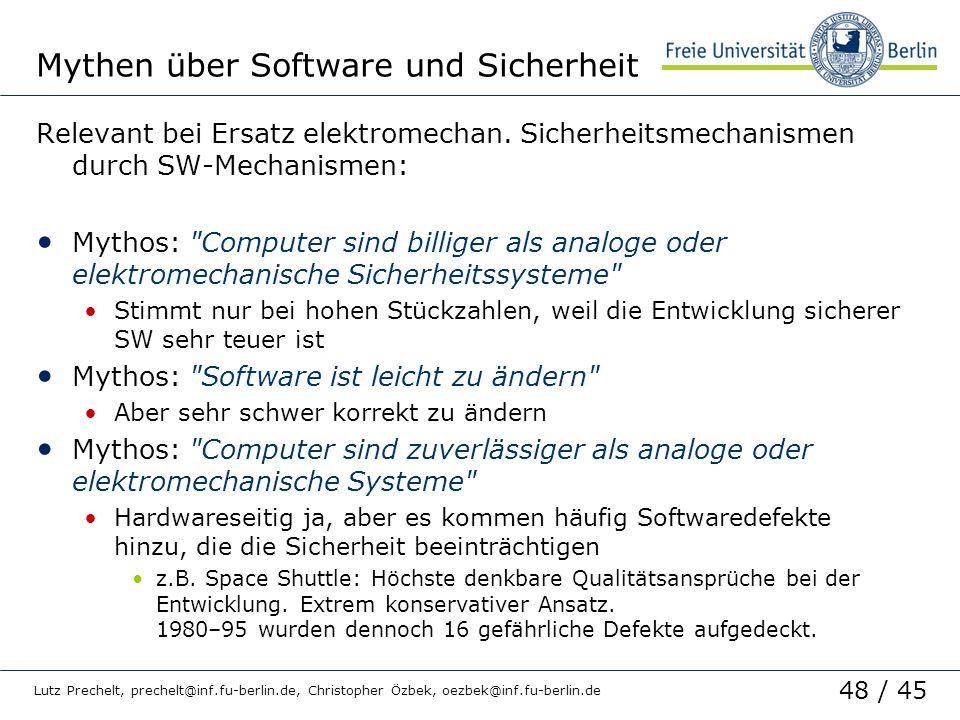 Mythen über Software und Sicherheit