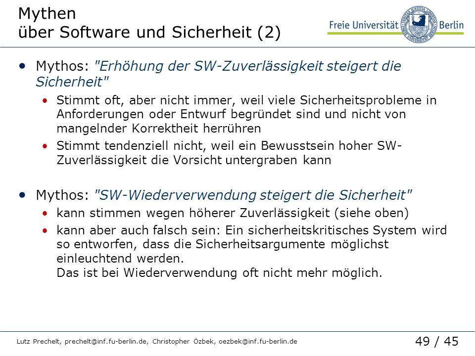 Mythen über Software und Sicherheit (2)