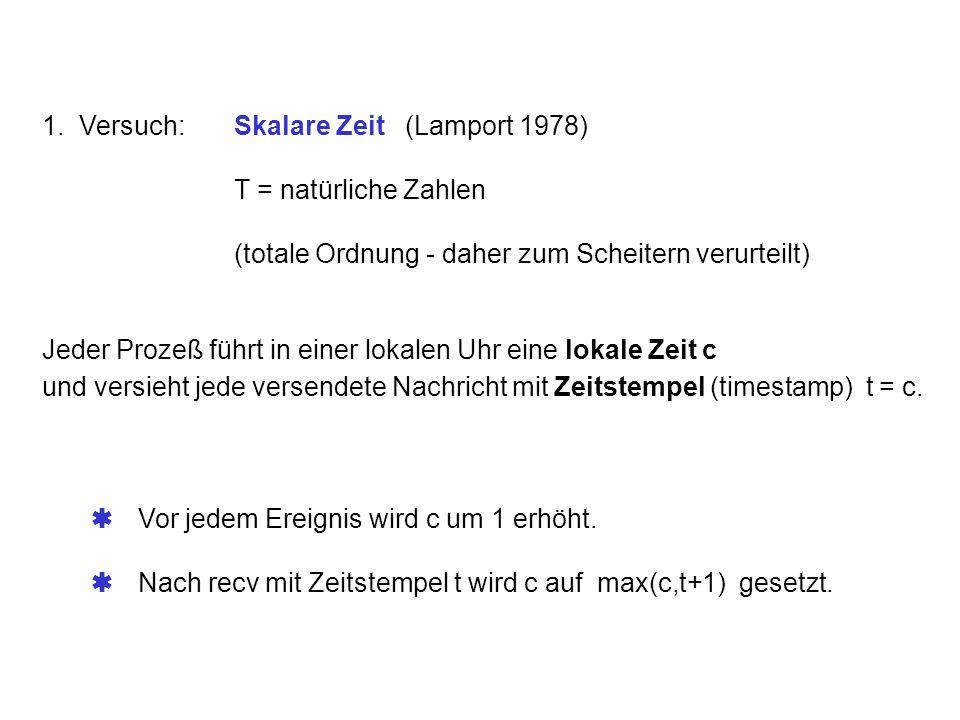 1. Versuch: Skalare Zeit (Lamport 1978)