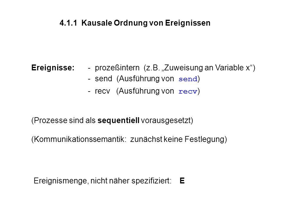 4.1.1 Kausale Ordnung von Ereignissen