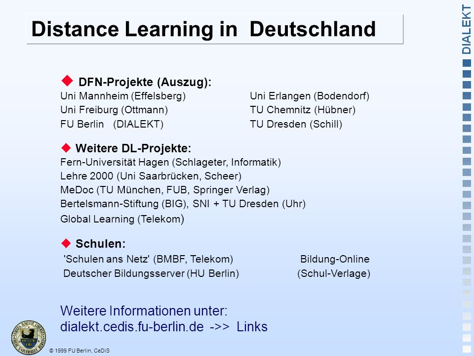 Distance Learning in Deutschland