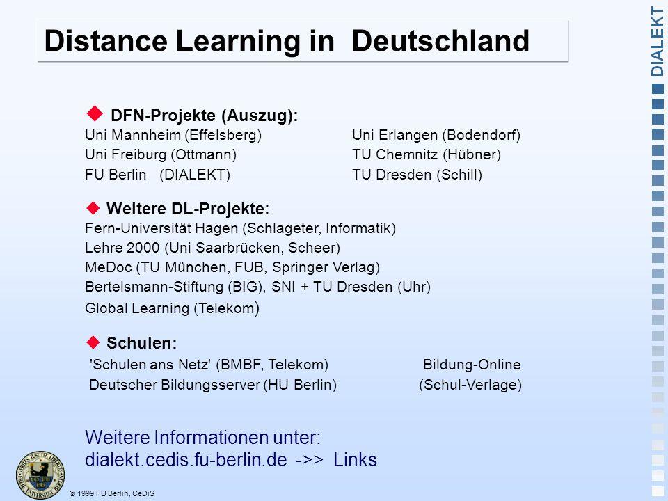 Distance Learning in Deutschland