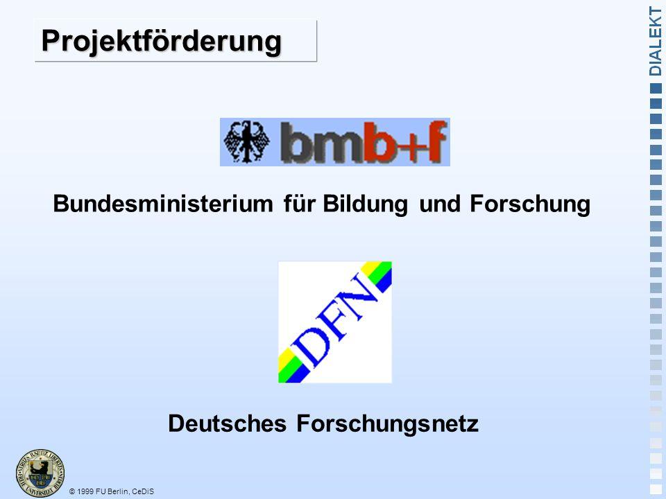Bundesministerium für Bildung und Forschung Deutsches Forschungsnetz