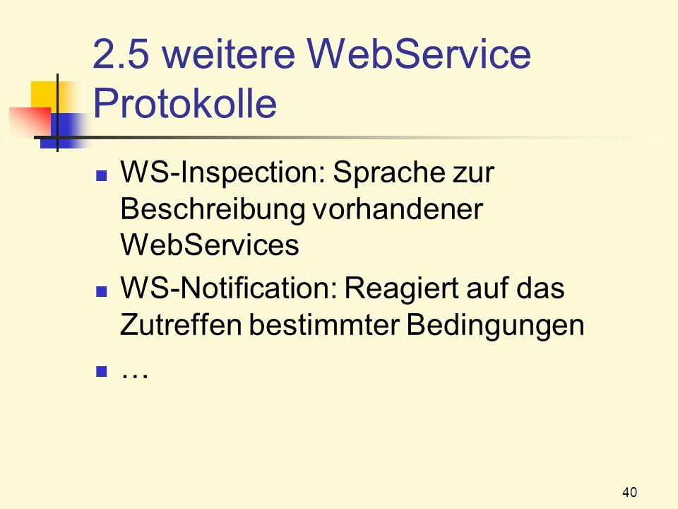 2.5 weitere WebService Protokolle