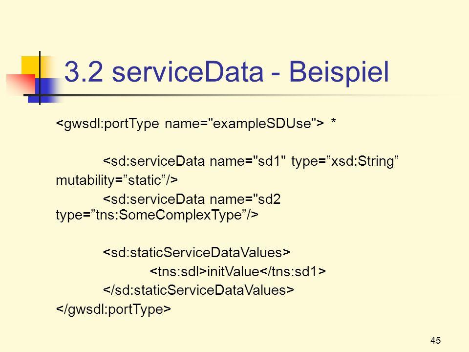 3.2 serviceData - Beispiel