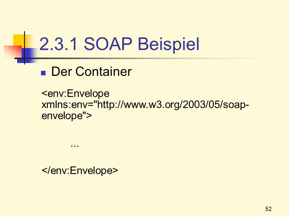 2.3.1 SOAP Beispiel Der Container