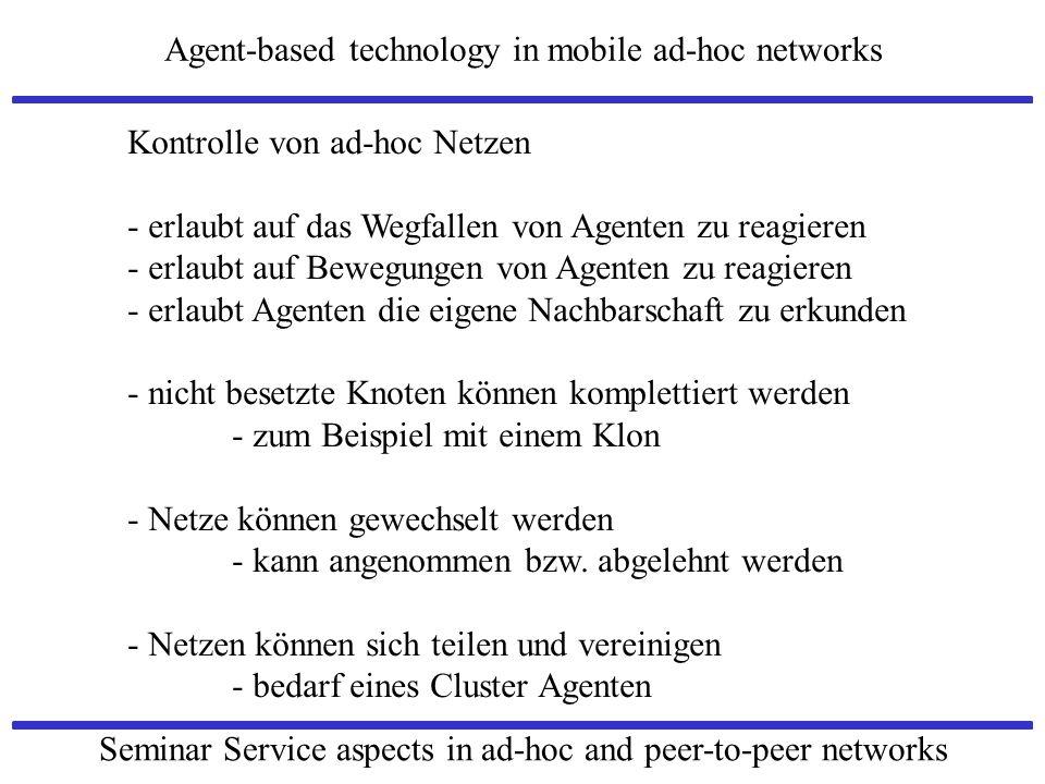 Kontrolle von ad-hoc Netzen