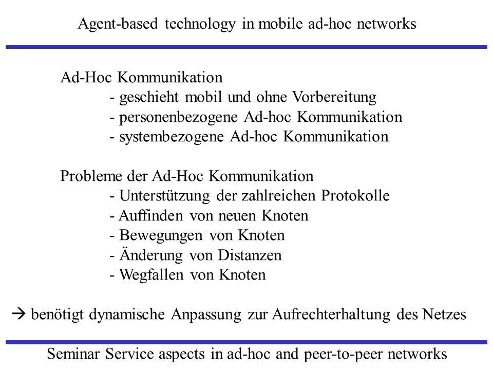 Ad-Hoc Kommunikation - geschieht mobil und ohne Vorbereitung. - personenbezogene Ad-hoc Kommunikation.