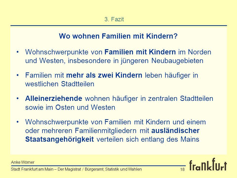Wo wohnen Familien mit Kindern