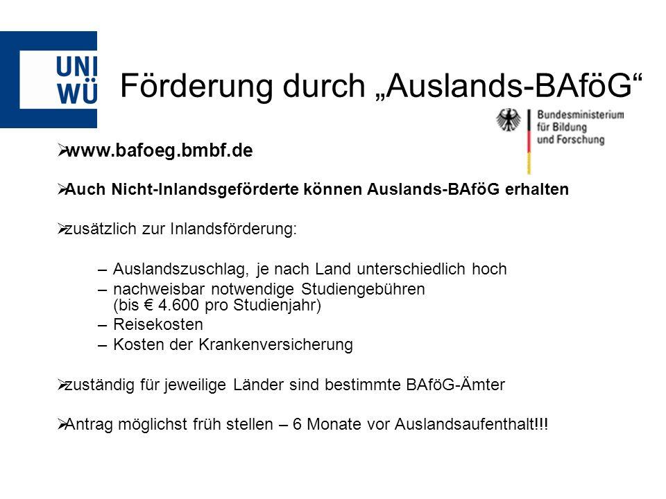 """Förderung durch """"Auslands-BAföG"""