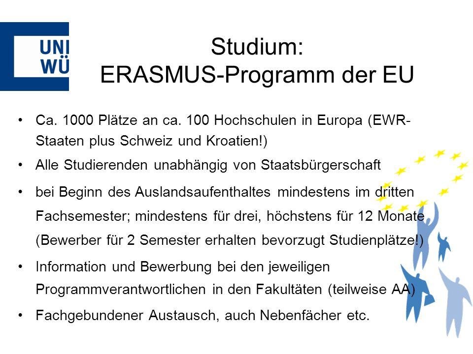 Studium: ERASMUS-Programm der EU