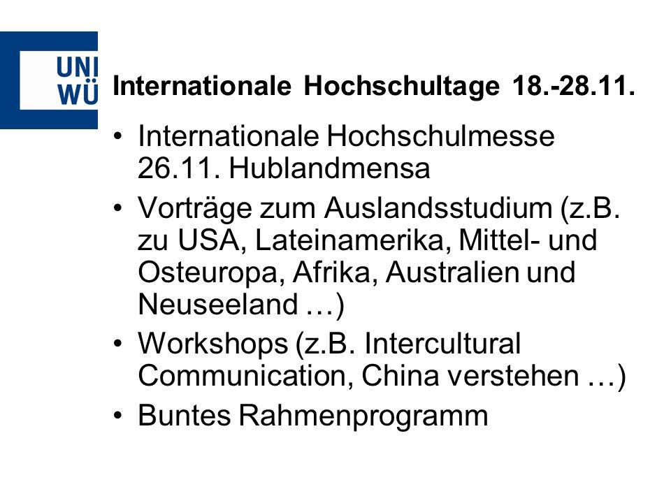 Internationale Hochschultage 18.-28.11.