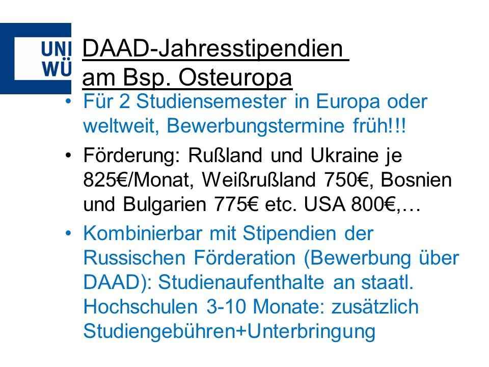 DAAD-Jahresstipendien am Bsp. Osteuropa