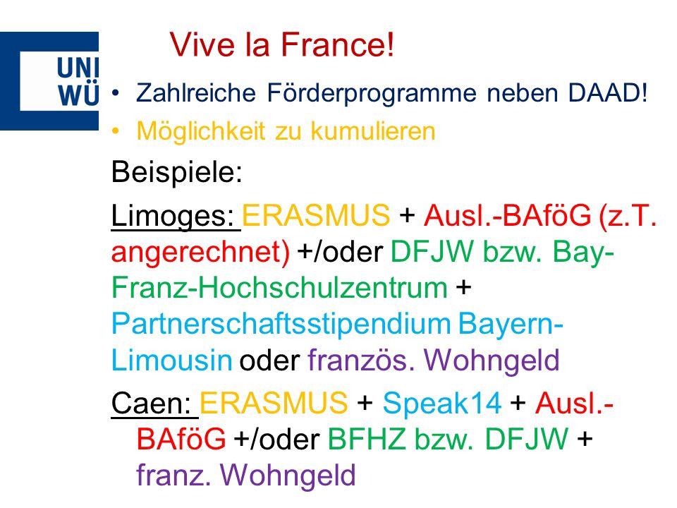 Vive la France! Beispiele: