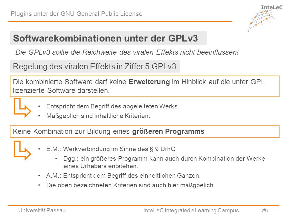 Softwarekombinationen unter der GPLv3