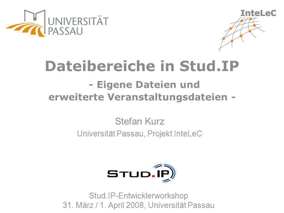 Stefan Kurz Universität Passau, Projekt InteLeC