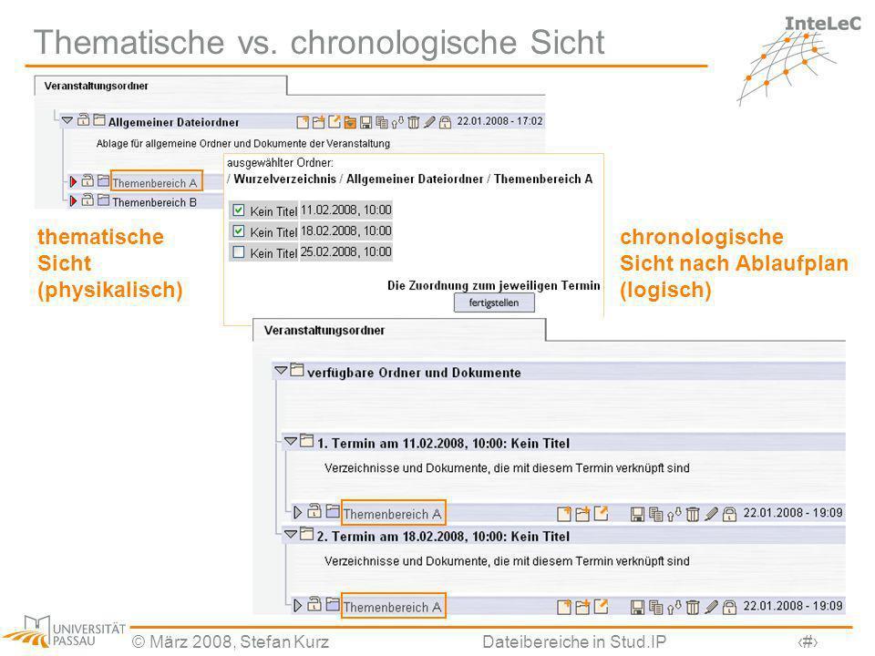 Thematische vs. chronologische Sicht