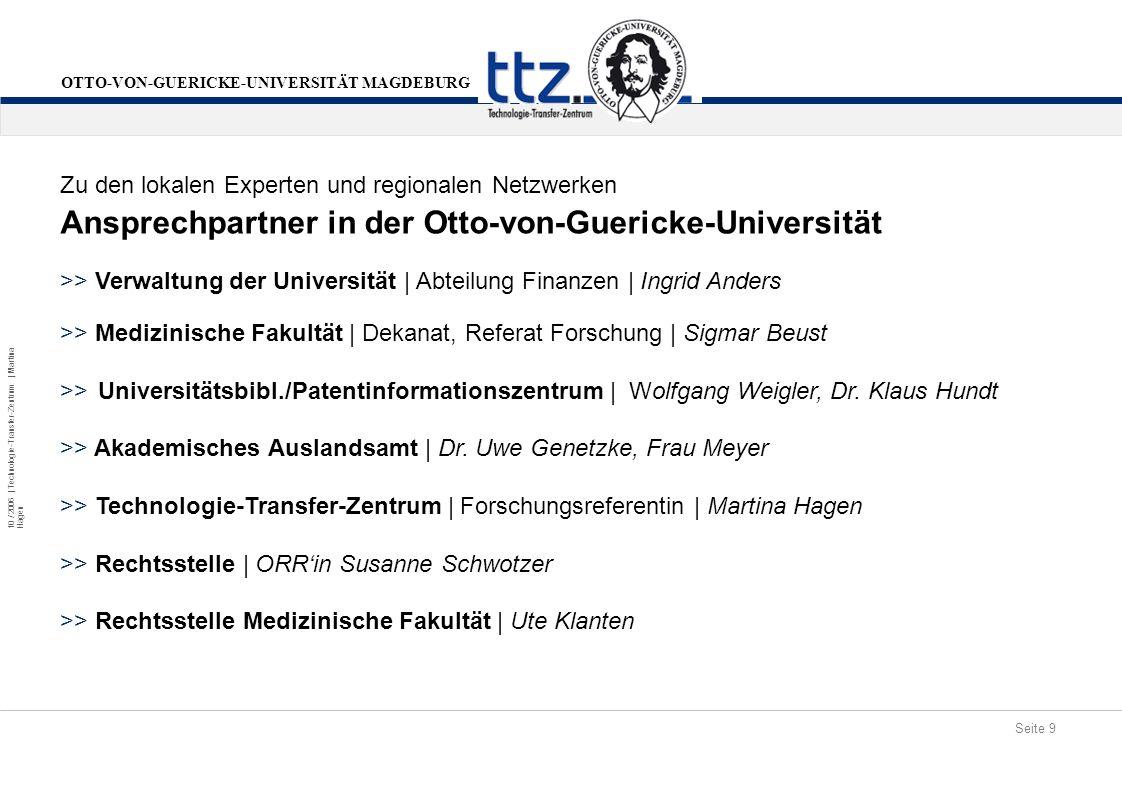 Ansprechpartner in der Otto-von-Guericke-Universität