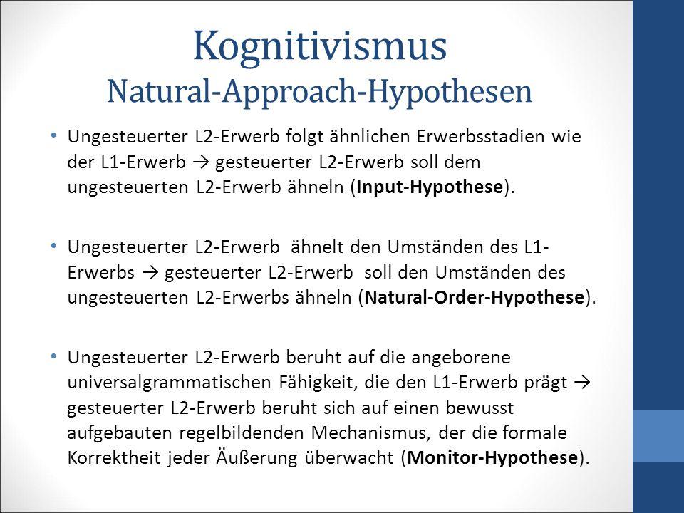 Kognitivismus Natural-Approach-Hypothesen