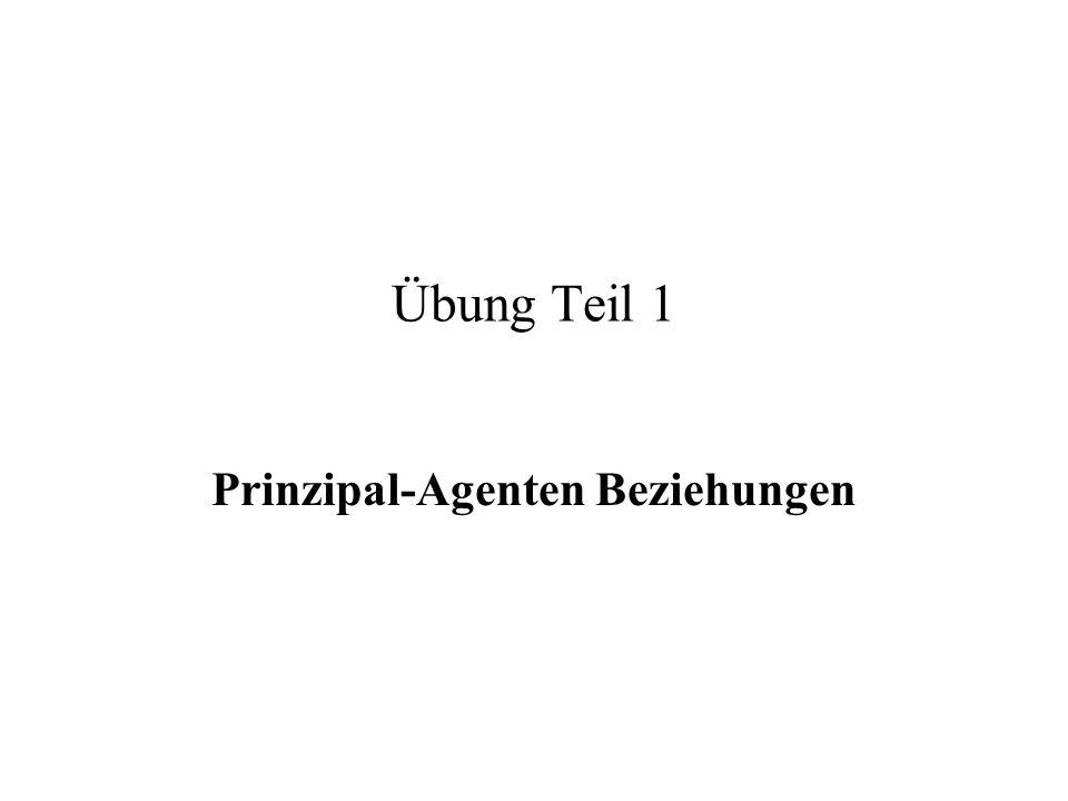 Prinzipal-Agenten Beziehungen