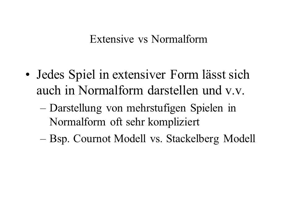 Extensive vs Normalform