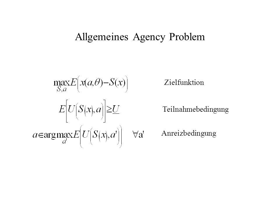 Allgemeines Agency Problem