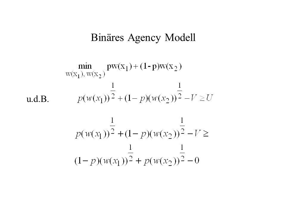 Binäres Agency Modell u.d.B.