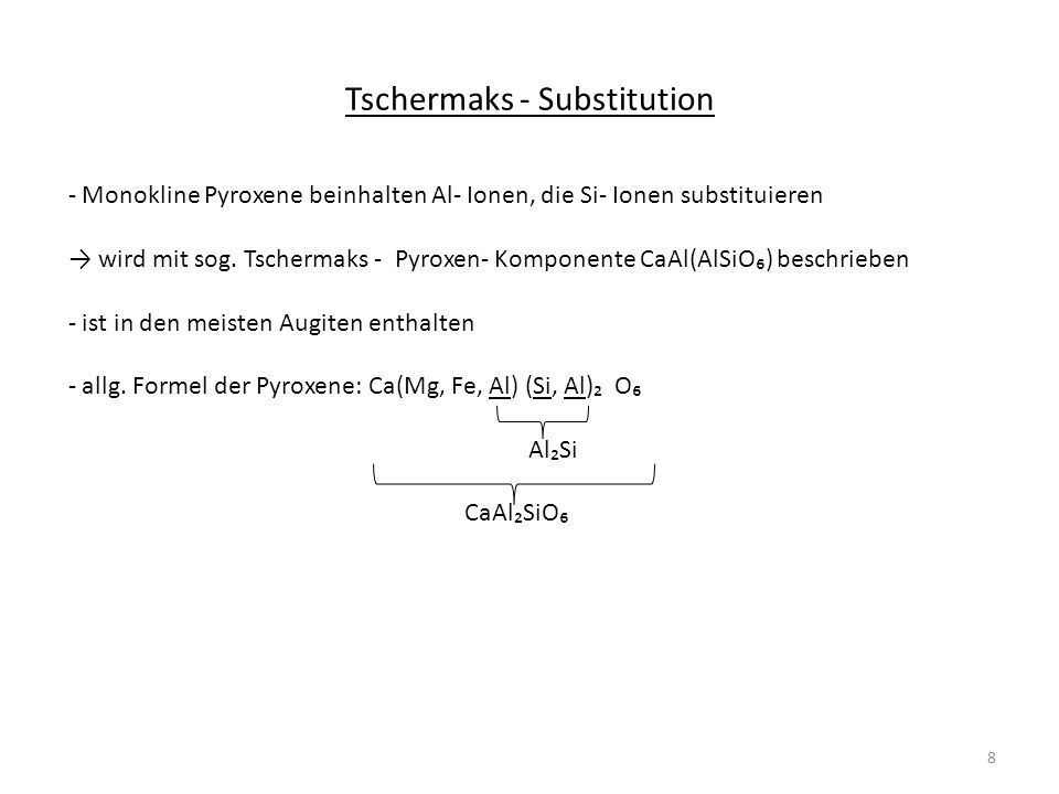 Tschermaks - Substitution