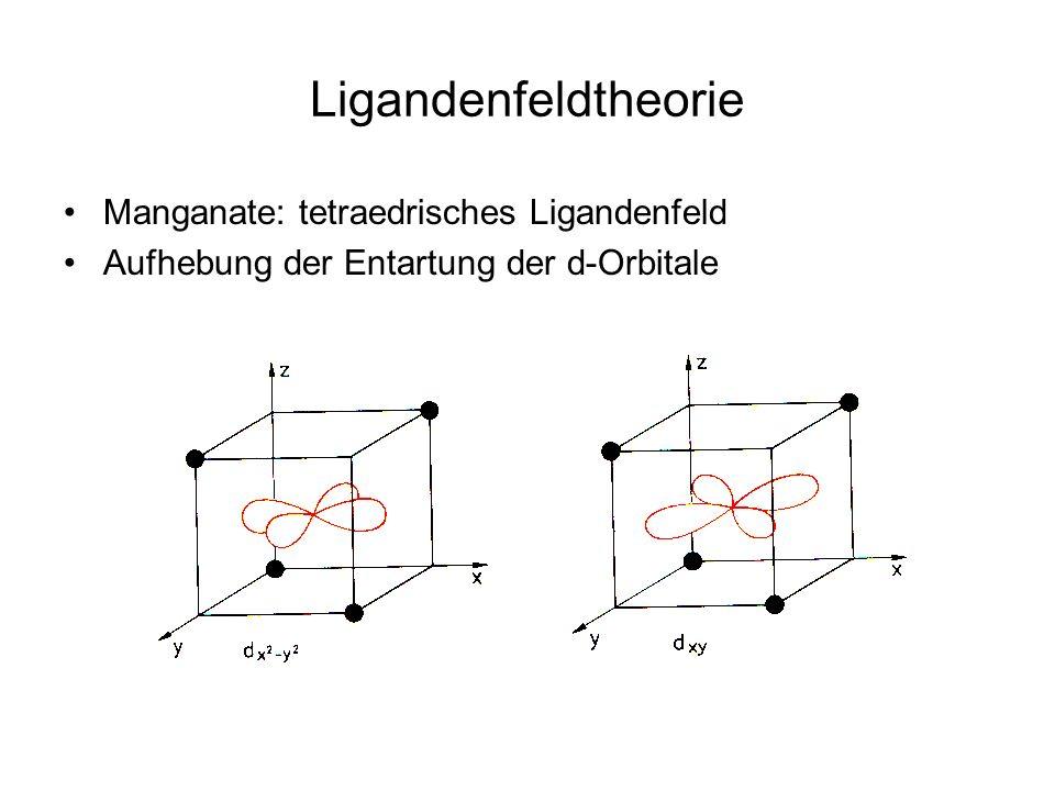 Ligandenfeldtheorie Manganate: tetraedrisches Ligandenfeld