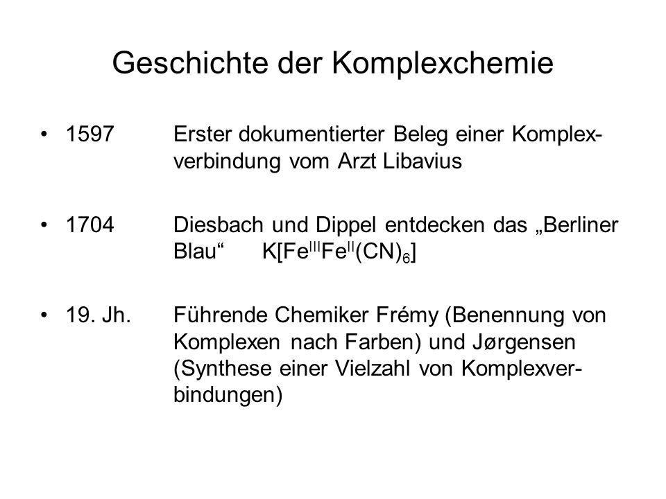 Geschichte der Komplexchemie