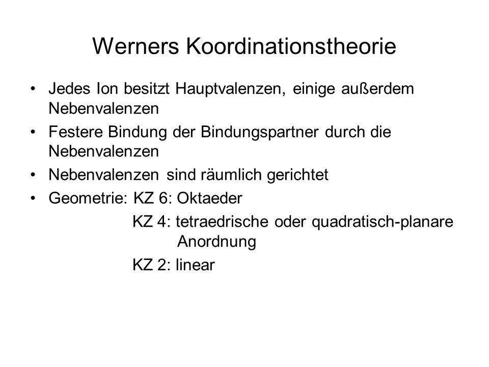 Werners Koordinationstheorie