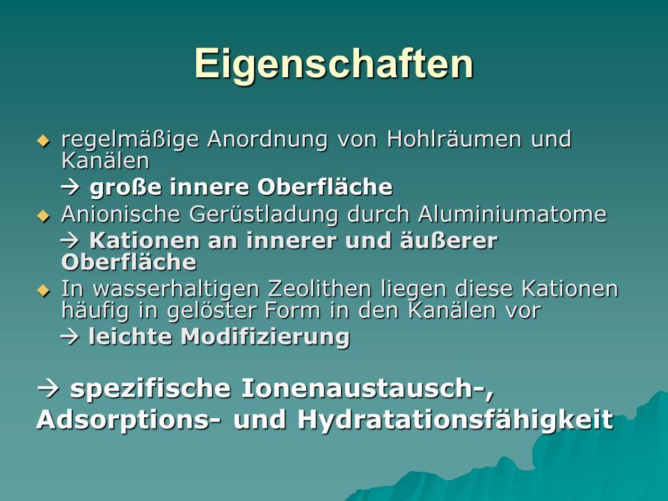 Eigenschaften  spezifische Ionenaustausch-,