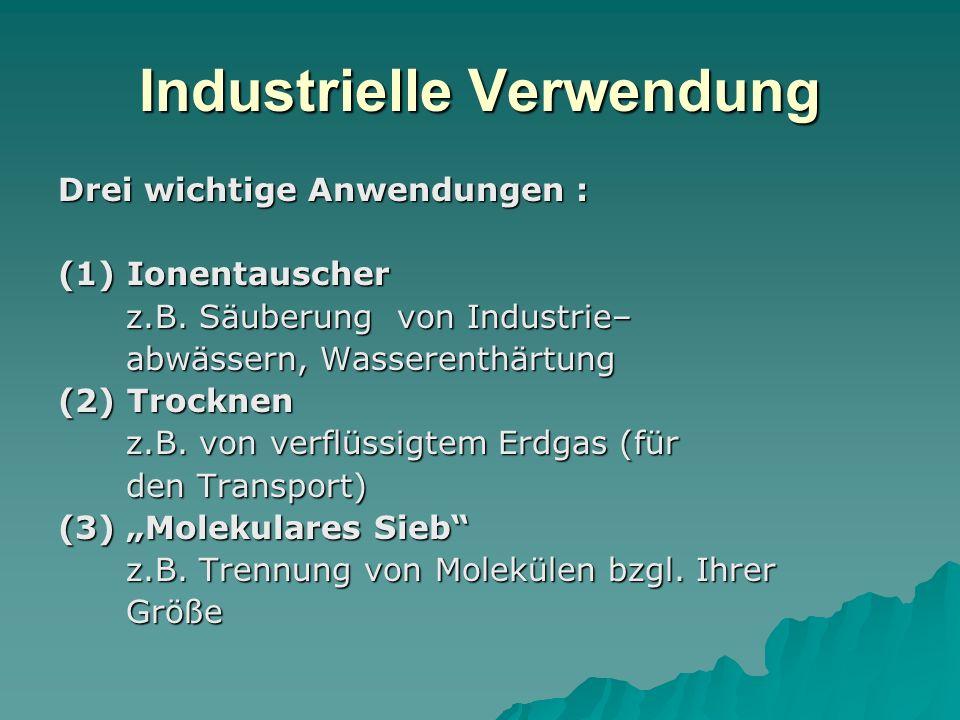 Industrielle Verwendung